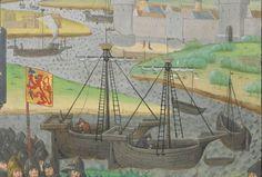 « La geste ou histore du noble roy Alixandre, roy de Macedonne, » traduite d'un « livre rimet,... intitulé l'Istore Alixandre, » par ordre de « Jchan de Bourgongne, conte d'Estampes »  Date d'édition :  1401-1500  Français 9342  Folio 96r