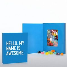 Hello, My Name is Awesome Smart Sayings Candy
