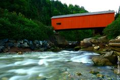 Iconic Point Wolfe covered Bridge in Fundy National Park
