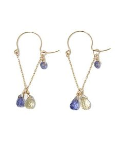 Two way type earrings [can be worn long, or loop as shown] also from Agete.