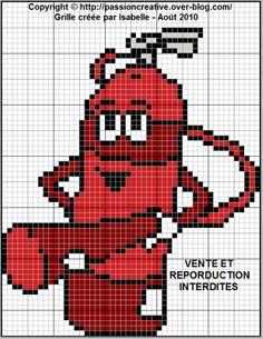 héros - pompier - point de croix - cross stitch - Blog : http://broderiemimie44.canalblog.com/