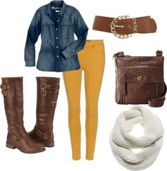 """Mustard Color Pants""  on Polyvore"