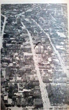 Vista parcial da cidade de Lajeado - Anos 70