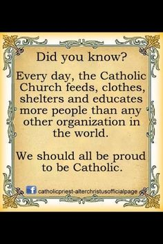 Did you know this about Catholics?