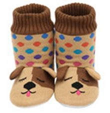 Slip your feet into the ultimate in warm, cozy comfort with these super-cute knitted dog slipper socks. Bedroom Slippers, Baby Slippers, Slipper Socks, Acorn Kids, Best Pajamas, Cozy Socks, Leather Slippers, Warm And Cozy, Dog Lovers