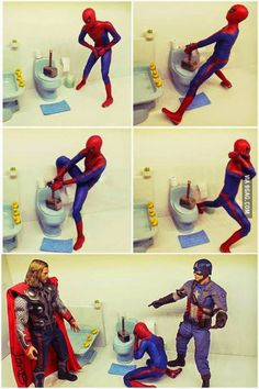 How rude! #Thor #Spiderman  /  http://saltlakecomiccon.com/slcc-2015-tickets/?cc=Pinterest