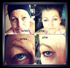 Permanent make up  Before & after