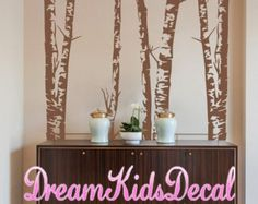 Description:  This Beautiful forest wall decals will let you feel in the nature! Our wall decals are ideal for offices, living rooms, entryways, classrooms, even your car or glass shower doors!  Each tree measures 260cm tall,you can arrange the width to fit your wall.    [WHATS INCLUDED]  3 Trees  Leaves  flowers  grass  Flying birds  Application instruction and small test decal    [Colors]  Please choose 1 color for the tree truck,1 color for the leaves and grass, 1 color for flowers, 1…