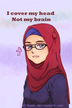 DeviantArt: More Collections Like Another hijab drawing :D by Jyuosan Hijab Quotes, Muslim Quotes, Islamic Quotes, Islamic Images, Islamic Pictures, Islamic Art, Muslim Girls, Muslim Couples, Hijab Drawing