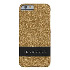 Gold Glitter Black Stripe Glam Barely There iPhone 6 Case - glam gifts unique diy special glamour