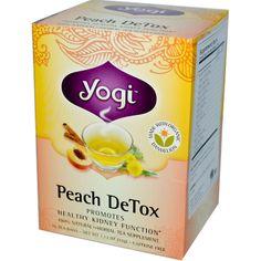 Yogi Tea, Peach Detox, Caffeine Free, 16 Tea Bags, 1.12 oz (32 g) - iHerb.com. Bruk gjerne rabattkoden min (CEC956) hvis du vil handle på iHerb for første gang. Da får du $5 i rabatt på din første ordre (eller $10 om du handler for over $40), og jeg blir kjempeglad, siden jeg får poeng som jeg kan handle for på iHerb. :-)
