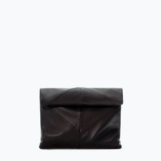 ZARA - SHOES & BAGS - LEATHER CLUTCH