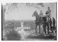 WWI, Germans at comrades graves