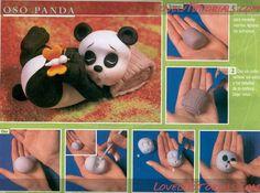 МК лепка Панда -Panda making tutorial - Мастер-классы по украшению тортов Cake Decorating Tutorials (How To's) Tortas Paso a Paso