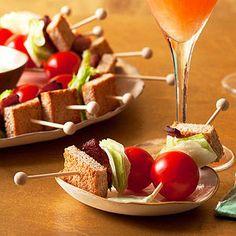 BLT Stacks! - What a cute little appetizer idea!