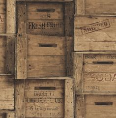 Brewster Wallcovering Reclaimed Dark Wood Non-Woven Wood Wallpaper Wallpaper Samples, Print Wallpaper, Wallpaper Roll, Classic Wallpaper, Dark Wood Wallpaper, Funky Wallpaper, Wooden Crates Design, Wood Crates, Wooden Boxes