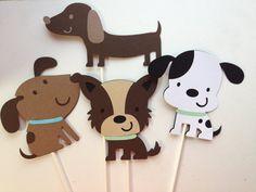 12  PuppyThemd Diaper Cake Decorations by MiaSophias on Etsy, $16.99