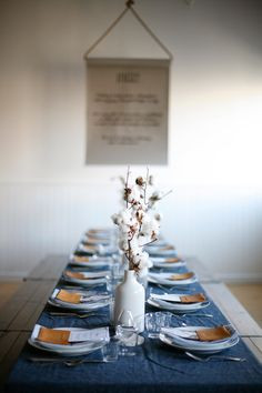 Rejuvenation Get a Guest-Ready: a warm thanksgiving table with cotton centerpieces & leather details