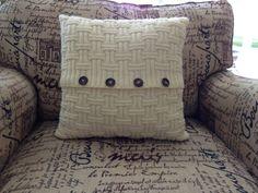 Tejido de la funda de almohada blanco antiguo, clásico patrón hermoso, almohadilla incluida a mano