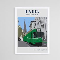 Poster Wall, Poster Prints, Art Prints, Basel, Marketing And Advertising, Switzerland, Vivid Colors, Art Art, Cities