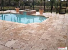 Due to their uneven texture they make good and best bet as swimming pool deck pavers. which ever the stones using to the pavers, we should make sure of the anti-slippery stones are best for using near and around outdoor swimming pool yard. Travertine Pavers, Concrete Pavers, Custom Countertops, Quartz Countertops, Natural Stone Pavers, Natural Stones, Outdoor Pavers, Swimming Pool Decks, Pool Designs