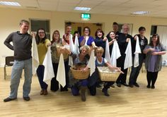 Lutterworth Musical Theatre Company during rehearsals for The Witches of Eastwick