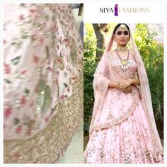 ♥️Designed And Delivered Bridal Lehenga Choli ♥️ Super Royal Leheng Choli Has Been Delivered To My Bride In London. Made In Pink Art Silk With Personalised Work Using Colourful Embroider Indian Wedding Gowns, Wedding Lehnga, Indian Bridal Outfits, Indian Bridal Fashion, Pakistani Bridal Dresses, Royal Indian Wedding, Designer Bridal Lehenga, Pink Bridal Lehenga, Pink Lehenga