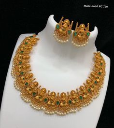 7286062150 ping me for orders Jewelry Design Earrings, Gold Earrings Designs, Gold Jewellery Design, Gold Jewelry, Necklace Designs, Gold Necklaces, Diamond Jewelry, Jewelry Sets, Bridal Jewelry