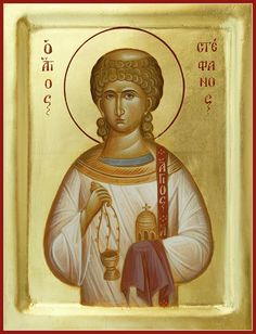 St Stephen The First Martyr And Deacon Painting by Julia Bridget Hayes