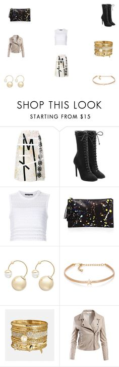 """""""Untitled #1153"""" by panicsam ❤ liked on Polyvore featuring Christopher Kane, adidas Originals, Thakoon Addition, Loeffler Randall, Witchery, Kenneth Jay Lane, Avenue and Sans Souci"""