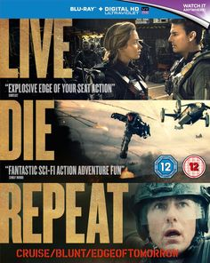 Edge of Tomorrow - Live Die Repeat Blu Ray with Ultraviolet NOW £8 + £1.49 p&p @ Amazon