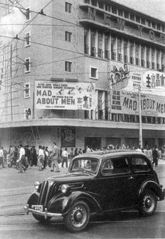 Hong Kong: From 1954-55 showing the junction of Percival St and Hennessy Rd with New York Cinema in the background. The movie Mad about Men was released in late 1954.