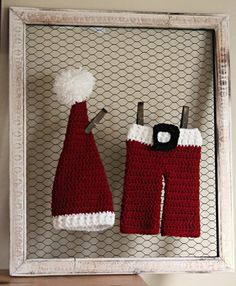 Just made and listed this one in my etsy shop...Newborn Photo Props - Santa Baby Crocheted Newborn Santa Set  Holiday by scrapsnthings