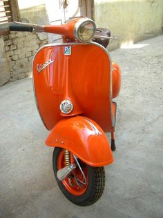 1964 orange Vespa scooter