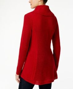Style & Co Cowl-Neck Tunic Sweater, Created for Macy's - Tan/Beige XL