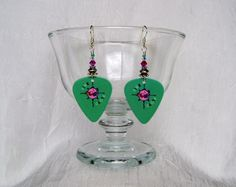 Pink Floyd Animals Guitar Pick Earrings by JazziSparklies on Etsy Available again!