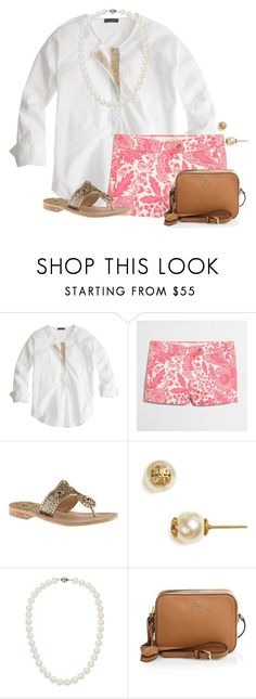 """QOTD: If you could have a shopping spree anywhere, where would you shop?"" by flroasburn ❤ liked on Polyvore featuring J.Crew, Jack Rogers, Tory Burch and Blue Nile"