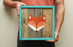Fox Face Reclaimed Wood Painting Made to Order by MissMacie, $105.00