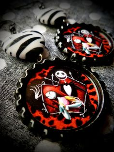 Jack & Sally earrings by LttleShopOfHorrors on Etsy, $6.50