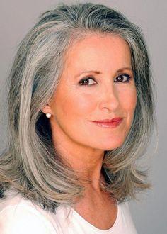 Beautiful Gray Hair Cuts - Hair World Magazine Long Gray Hair, Silver Grey Hair, Older Women Hairstyles, Wig Hairstyles, Hairstyle Hacks, Modern Hairstyles, Black Hairstyles, Hairstyles For Over 60, Teenage Hairstyles