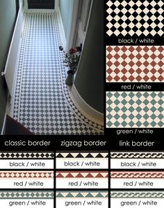 Devoke Encaustic Flooring Tiles and Geometric Border Tiles