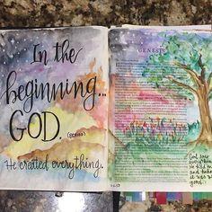 Genesis 1 bible journaling Pat D / patjournals /