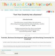 The website 'www.theartandcraftnetwork.co.uk' #creativebusiness #craftbusiness #artist