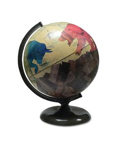 Using globes as her canvas, artist Wendy Gold brings the world to life with her vast collection of original handmade decoupage vintage globe art. Globe Art, Map Globe, Ems, Tax Day, Certified Financial Planner, Vintage Globe, Stock Broker, Decoupage Vintage, Financial Markets