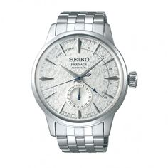 Official Seiko Mens Presage Limited Edition Power Reserve Fuyugeshiki Winter Dial Bracelet Watch from T. Breitling Chronomat, Max Bill, Seiko Presage, Limited Edition Watches, Watch Model, Seiko Watches, Mechanical Watch, Stainless Steel Case, Luxury Watches