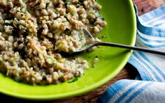 at the end of cooking contribute a lightness to this chewy risotto. You can use one herb or a combination. If you've bought a big bunc