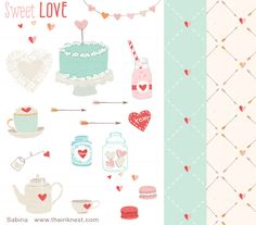 sweet love clip art | The Ink Nest (Great resource for adorable illustration - comes in vector also)