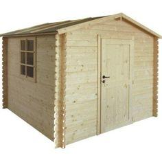 Abri de jardin en bois Courtine, 3 m², ép. 19 mm | jardin ...