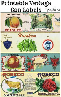 printable vintage can labels                                                                                                                                                                                 More