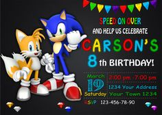Sonic the Hedgehog Birthday Invitation by DigitalSentiments